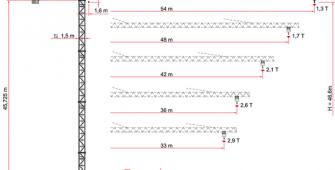 Башенный кран MR93-FEM218