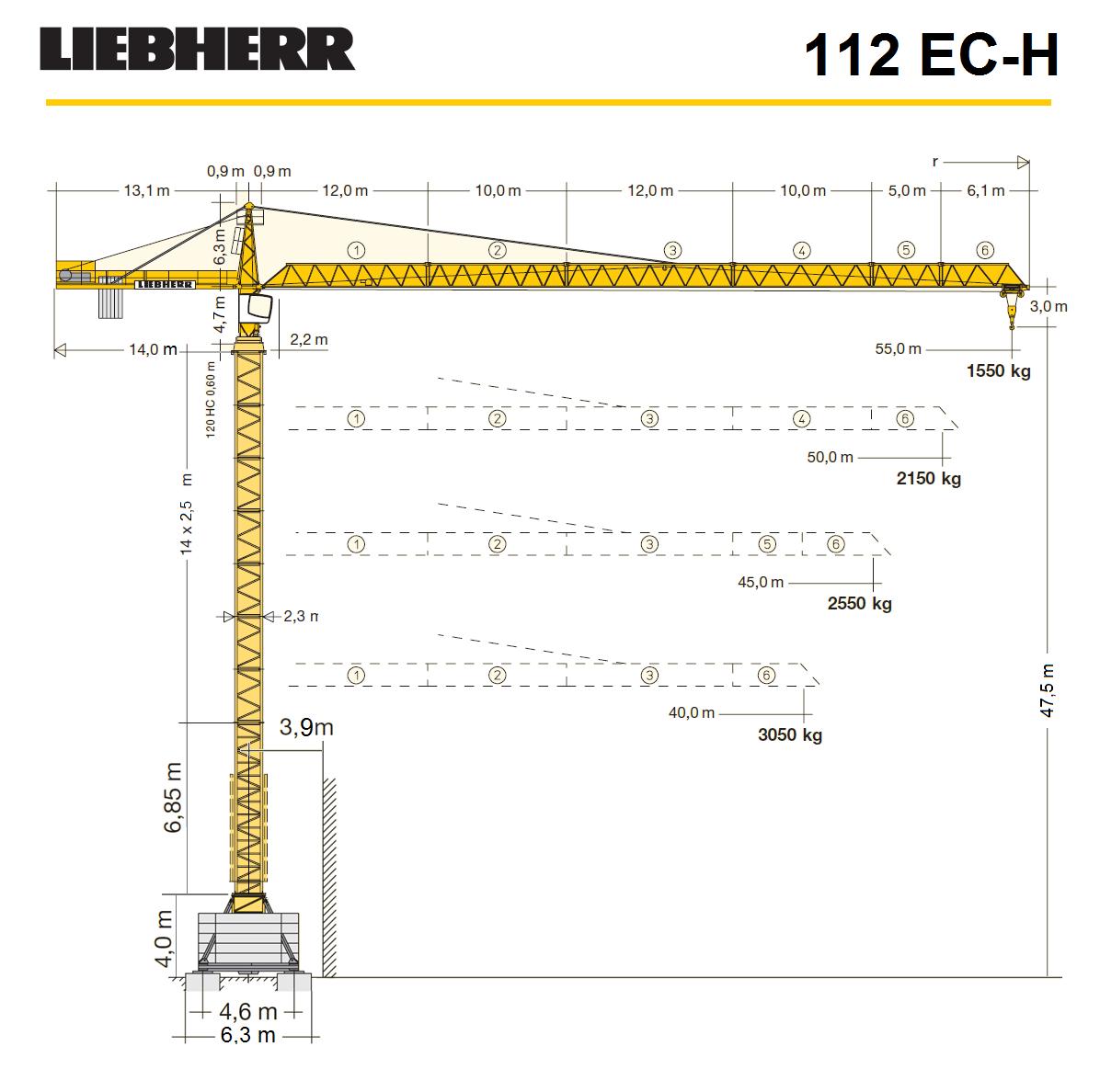 Башенный кран LIEBHER 112 EC-H